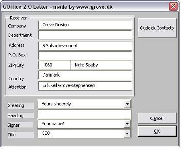 Office er en række skabeloner til brug i microsoft word